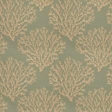 Aqua Floral Decorator Fabric by Fabricut