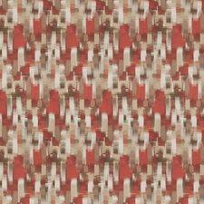 Coral Geometric Decorator Fabric by Fabricut