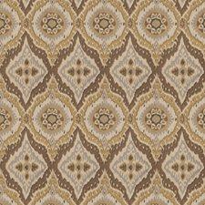 Gold Leaf Geometric Decorator Fabric by Fabricut