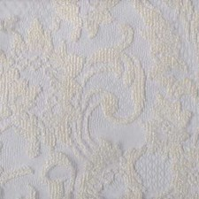 White Floral Medium Decorator Fabric by Duralee