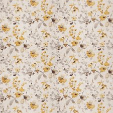 Yellow Grey Floral Decorator Fabric by Trend