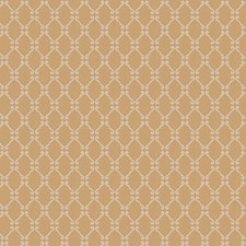 Gold Leaf Lattice Decorator Fabric by Stroheim