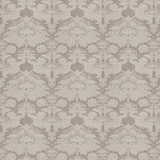 Grey Embroidery Decorator Fabric by Stroheim