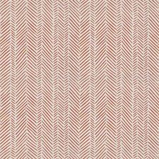 Guava Herringbone Decorator Fabric by Stroheim