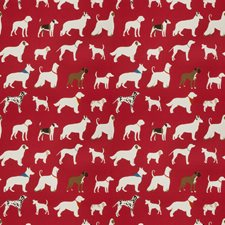 Red Animal Decorator Fabric by Trend
