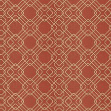 Rust Geometric Decorator Fabric by Fabricut