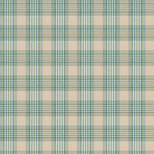 Teal Check Decorator Fabric by Fabricut