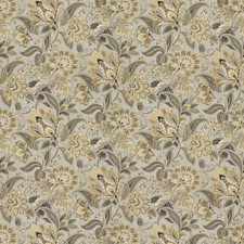 Gold Dust Floral Decorator Fabric by Fabricut