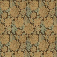 Exotic Teal Floral Decorator Fabric by Trend
