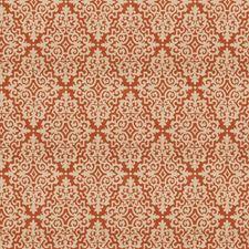 Persimmon Jacquard Pattern Decorator Fabric by Fabricut