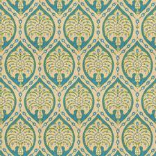 Lagoon Medallion Decorator Fabric by Vervain