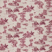 Mahogany On Celadon Toile Decorator Fabric by Vervain