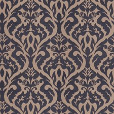 Navy Damask Decorator Fabric by Fabricut