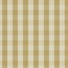 Soft Gold Check Decorator Fabric by Stroheim