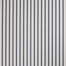 Navy Stripes Decorator Fabric by Stroheim