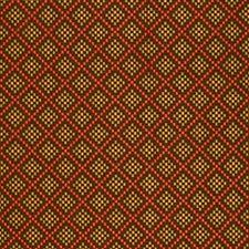 Chocolate/Poppy Decorator Fabric by Schumacher