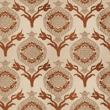 Spice Tone Damask Decorator Fabric by Vervain