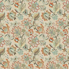 Coral Garden Floral Decorator Fabric by Fabricut