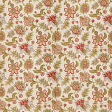 Coral Jacobean Decorator Fabric by Fabricut