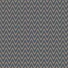 Navy Chevron Decorator Fabric by Trend
