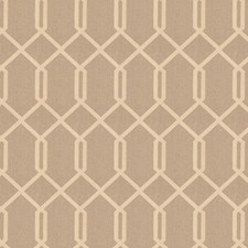 Mushroom Geometric Decorator Fabric by Trend