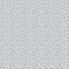 Powder Blue Leaves Decorator Fabric by Fabricut