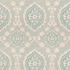 Blue Spruce Damask Decorator Fabric by Vervain