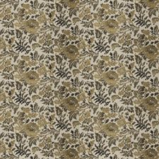 Gilded Ebony Floral Decorator Fabric by Fabricut