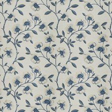 Indigo Embroidery Decorator Fabric by Fabricut