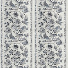 Pewter Floral Decorator Fabric by Vervain