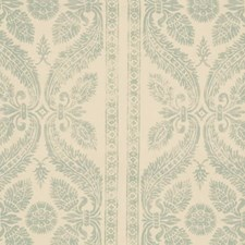 Aqua Print Pattern Decorator Fabric by Vervain
