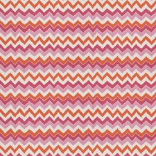 Pink Orange Print Pattern Decorator Fabric by Stroheim