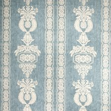 Teal Print Pattern Decorator Fabric by Vervain
