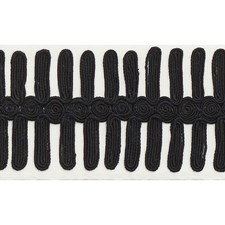 Black On Ivory Trim by Schumacher
