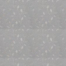 Slate Embroidery Decorator Fabric by Trend
