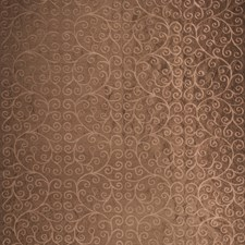 Chocolate Embroidery Decorator Fabric by Trend