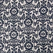 Navy Damask Decorator Fabric by Trend