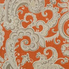 Apricot Paisley Decorator Fabric by B. Berger