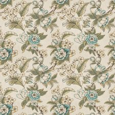 Peacock Floral Decorator Fabric by Trend