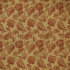 Scarlet Floral Decorator Fabric by Trend