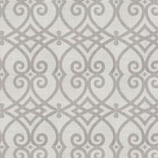 Dove Gray Geometric Decorator Fabric by Trend