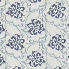 Blue/Turquoise Embroidery Decorator Fabric by Duralee
