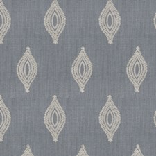 Slate Embroidery Decorator Fabric by Stroheim