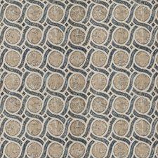 Denim Geometric Decorator Fabric by Trend