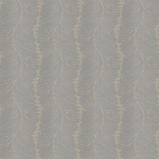 Pewter Leaves Decorator Fabric by Trend