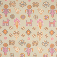 Pink/Orange Decorator Fabric by Schumacher