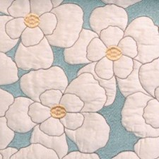 Gold/aqua Decorator Fabric by Highland Court