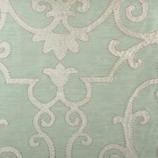 Seaglass Embroidery Decorator Fabric by Highland Court