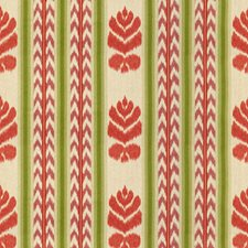 Coral/Plum Ikat Decorator Fabric by Brunschwig & Fils