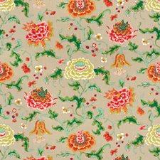 Kumquat/Pink Print Decorator Fabric by Brunschwig & Fils